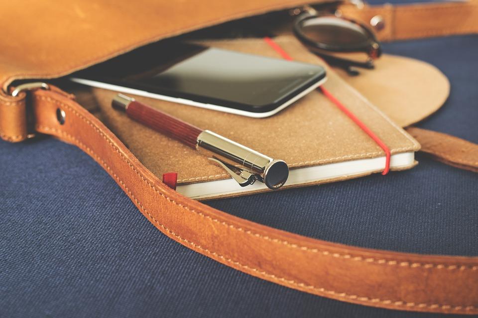 Smartphone in a bag