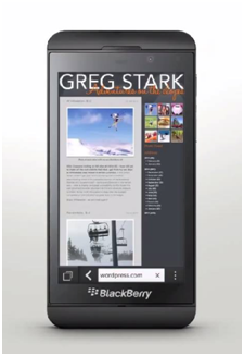 BlackBerry 10 Reading mode