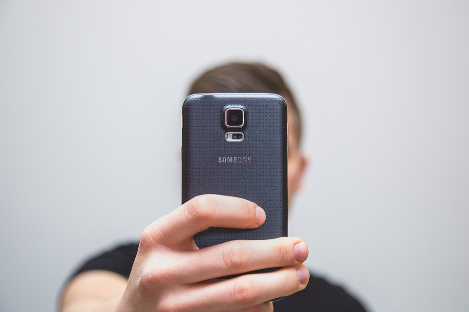The main camera of a Samsung smartphone